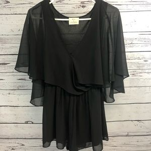 Anthropologie Pin's and Needles Top Small Sheer